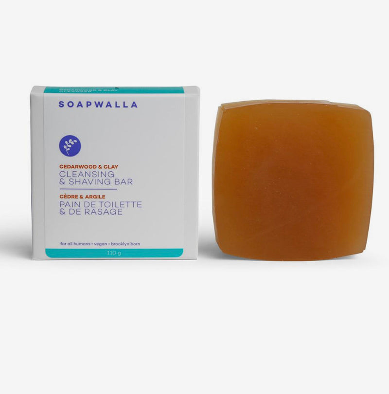 Soapwalla Cedarwood & Clay Cleansing Bar - ECOLONE Beauty