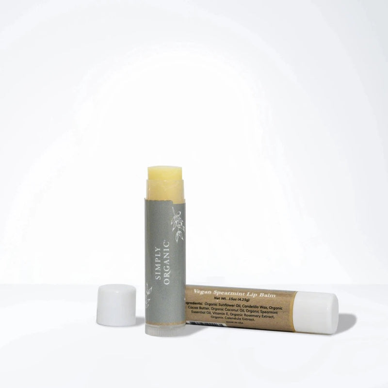 Simply Organic Vegan Spearmint Lip Balm - ECOLONE Beauty