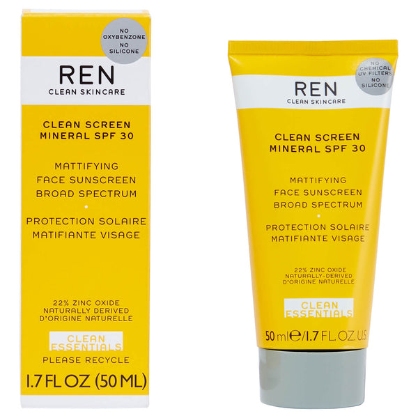 Ren Clean Skincare  Screen Mattifying Face Sunscreen SPF 30 - ECOLONE Beauty