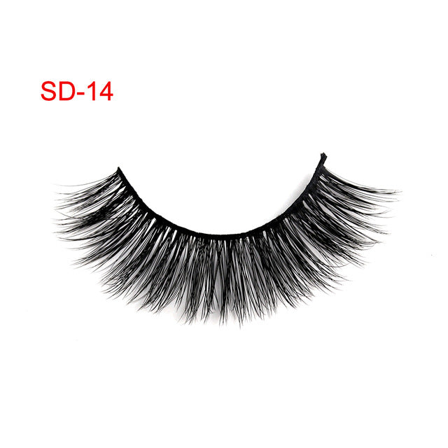 3 Pairs Natural False Eyelashes Beauty Make up Thick Cross Voluminous Messy Style Eye Lashes Extension Women Fashion Makeup Tool