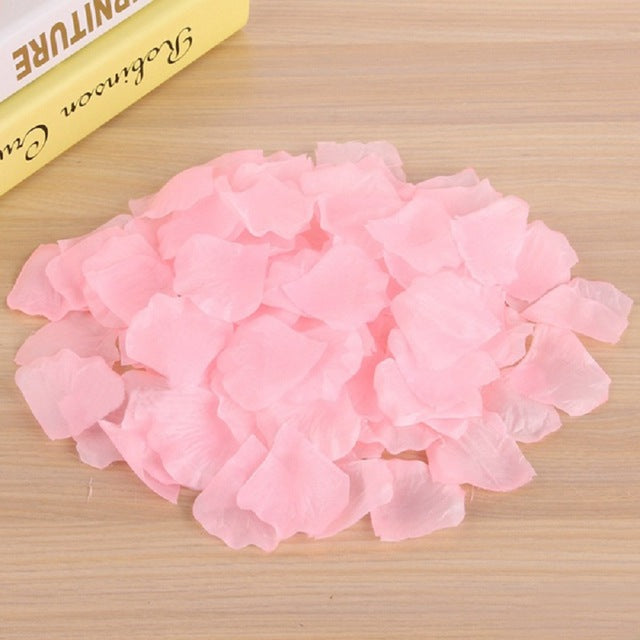 1000pcs Lifelike Artificial Silk Red Rose Petals Decorations for Wedding Party Confetti Event  Fake Rose Flower Girl Toss Petal