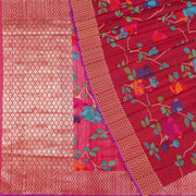 Handcrafted Tussar Jute Silk Saree - R4525