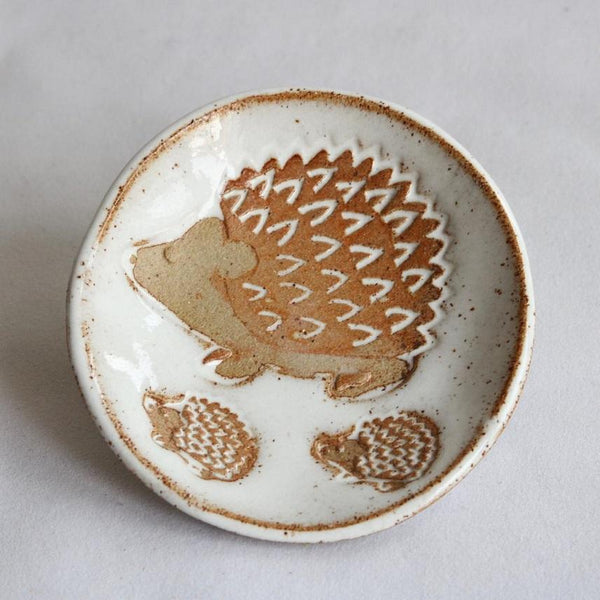 Hedgehog Dish 2 | White Speckle - JulesCeramics