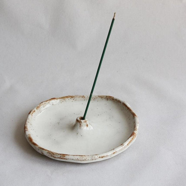 Incense Stick Holder | White Speckle - JulesCeramics