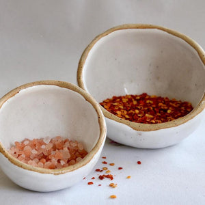 Salt Pots | White Speckle - JulesCeramics