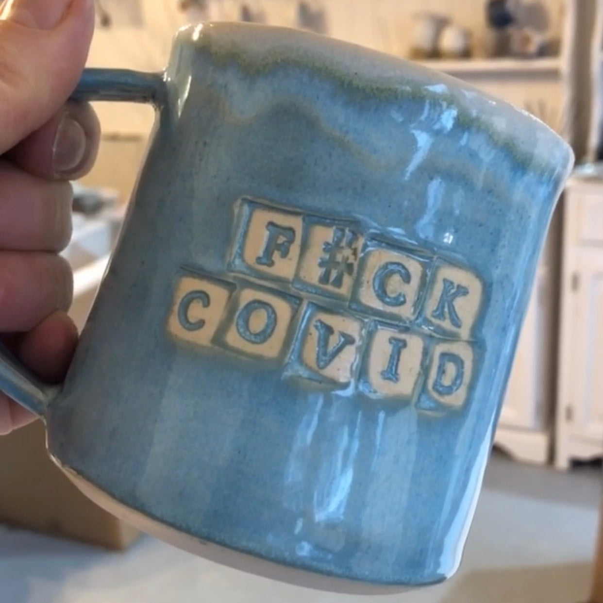 Fight Covid Mug | Glacier Lake Blue