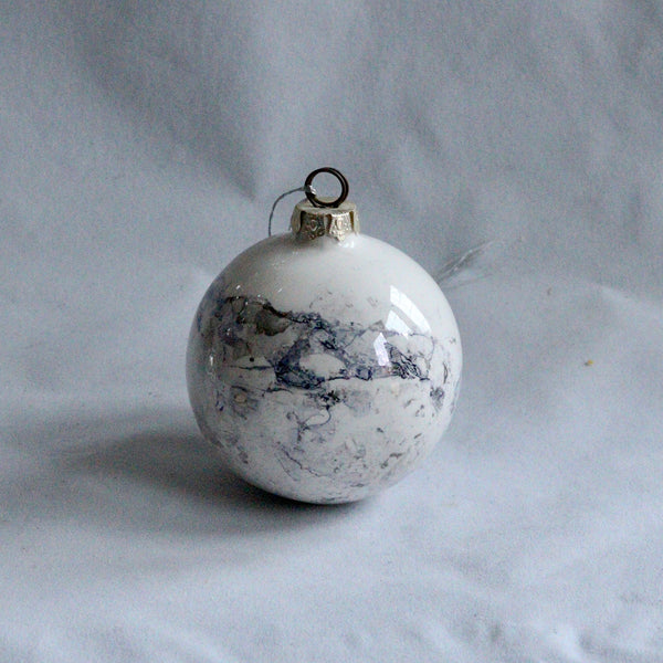 Marbled Lustre Bauble - Large | Christmas Decorations