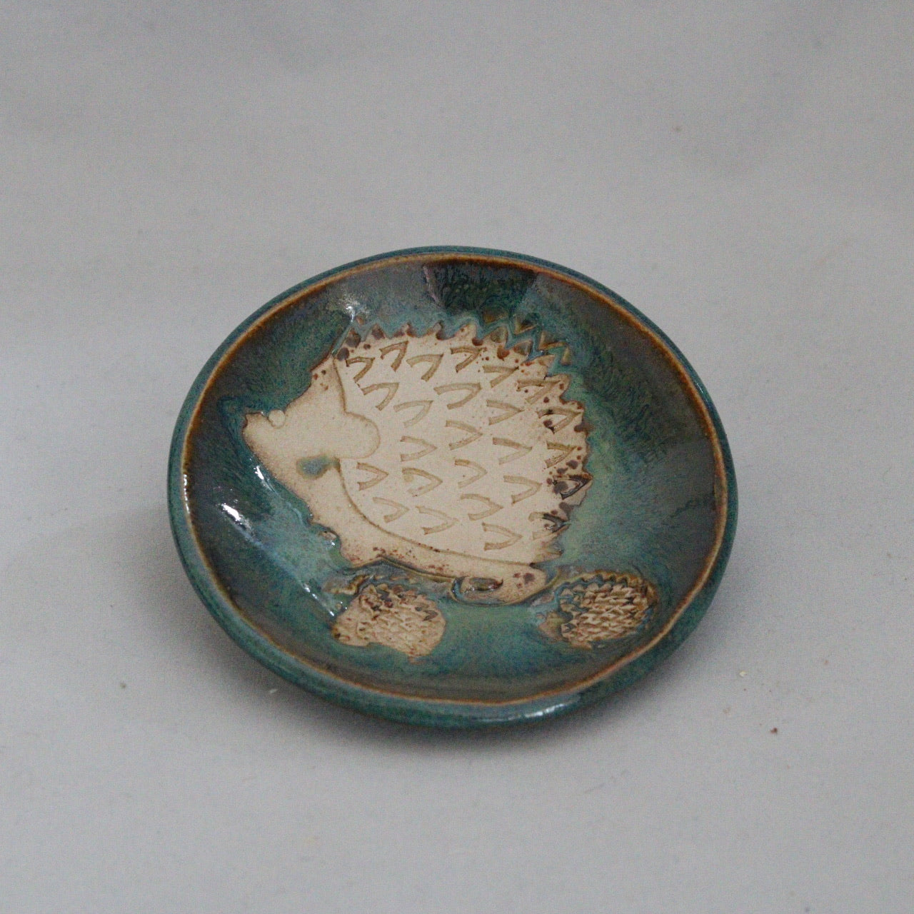 Hedgehog + 2 Trinket Dish | Forest Bronze