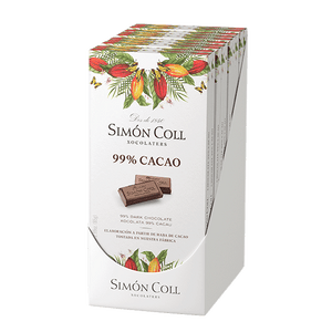 Simon Coll Chocolate 99% Cocoa 85g (10 bars per pack) - oloandco