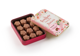 Milk Chocolate filled with Raspberry, Flowers in Collectable Tin 72g (Case of 5 tins) - oloandco