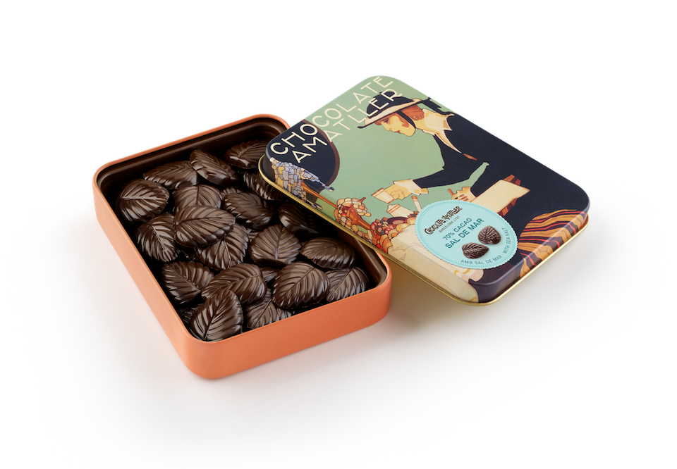 Dark Chocolate with Salt 70% 60g per unit (Case of 5 Tins) - oloandco
