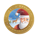 Santa Milk Chocolate Medallions Pack of 25 Large Coins - oloandco