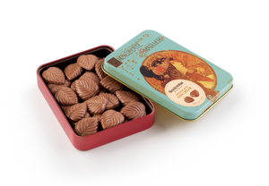 Milk Chocolate Leaves Tin 60g (Case of 10 tins) - oloandco