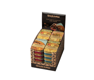 Milk Chocolate Leaves in Collectable Gift Tin 30g (Case of 20 tins) - oloandco