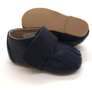 Leather Loafer in Navy (Toddler/Little Kid)