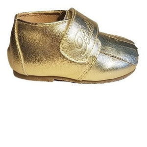 Leather Loafer in Gold (Toddler/Little Kid)