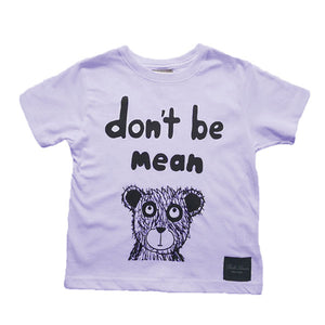 Don't Be Mean Anti-bullying Bear T-Shirt - Lilac