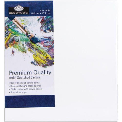 "essentials™ Premium Stretched Canvas - 4""x4"""