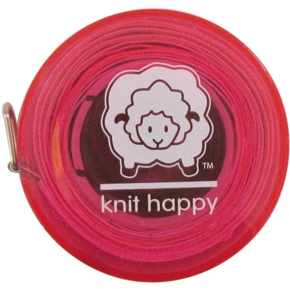 "Knit Happy Tape Measure 60"" - Pink"