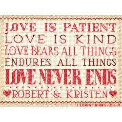"Dimensions Mini Counted Cross Stitch Kit 7""X5"" - Love Is Patient"