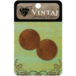 Vintaj Metal Altered Blanks Circles - 2/Pkg