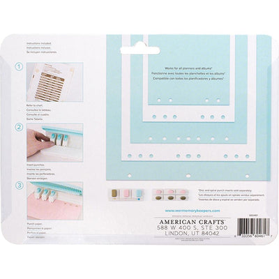 We R Planner Punch Board W/ Standard Hole Punches 6/Pkg