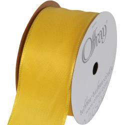"Offray Wired Bistro Ribbon 1-1/2""X9' - Bright Yellow"