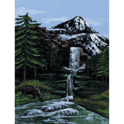 "Paint By Number Kit Artist Canvas Series 9""X12"" - Mountain"