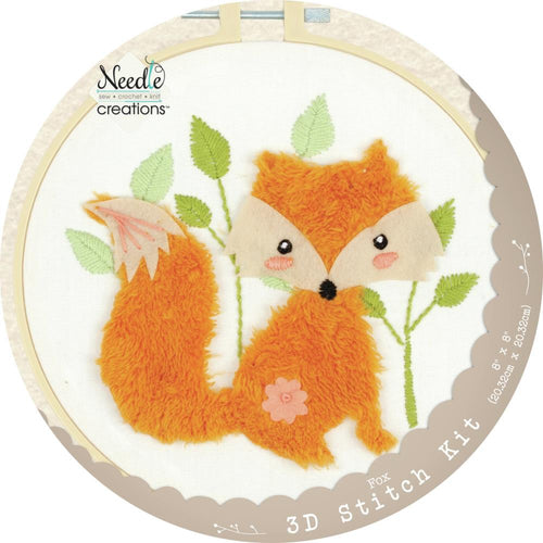 "Fabric Editions Needle Creations 3D Stitch Kits 8"" - Fox"
