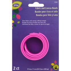"LoRan Fabric & Canvas Silicone Bands 2/Pkg 9.5""X1.125"""