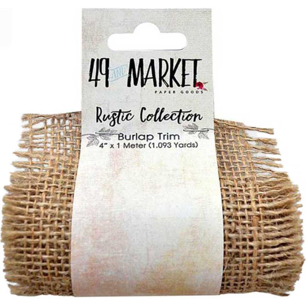 "49 And Market Burlap Ribbon Roll 4""X1m - Natural Net"