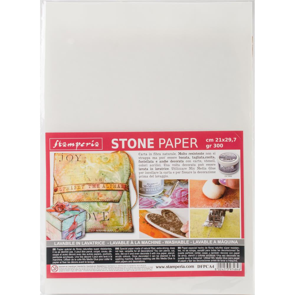 "Stamperia Washable Stone Paper 8.25""X11.6"""
