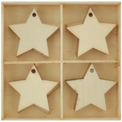 Kaisercraft Lucky Dip Wood Embellishment Pack 20/Pkg Stars