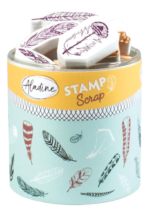Aladine STAMPO SCRAP - FEATHERS