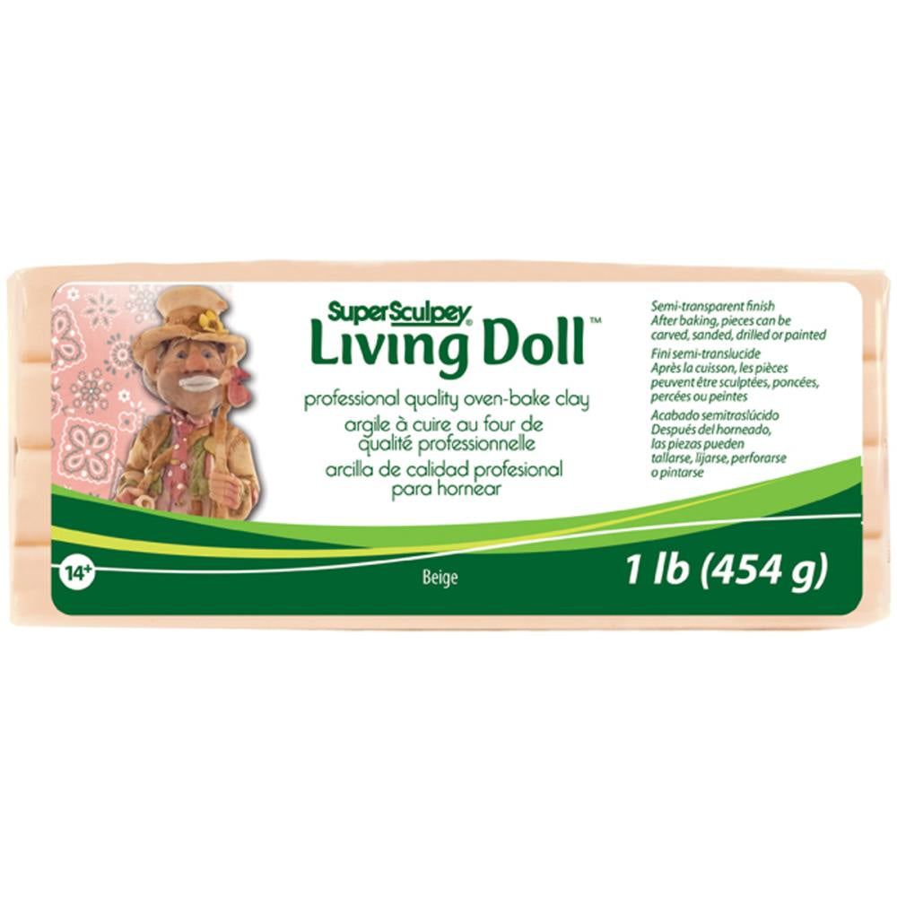 Super Sculpey Living Doll Clay 1lb - Beige