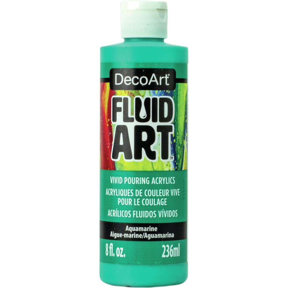 DecoArt FluidArt Ready-To-Pour Acrylic Paint 8oz - Aquamarine