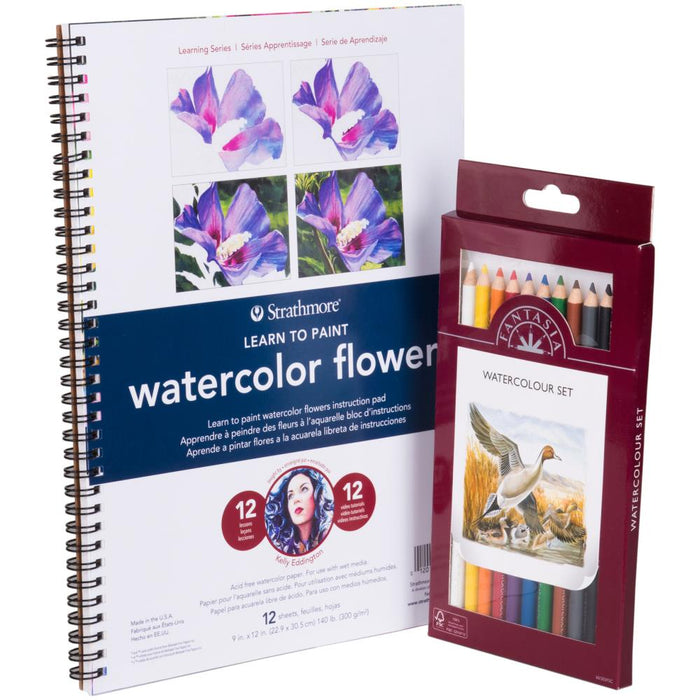 Learn To Paint Watercolor Flowers Set