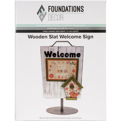 Foundations Decor Slat Welcome Sign
