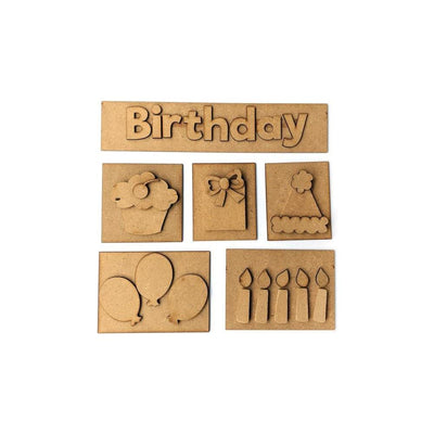 Foundations Decor Shadow Box Kit - Birthday