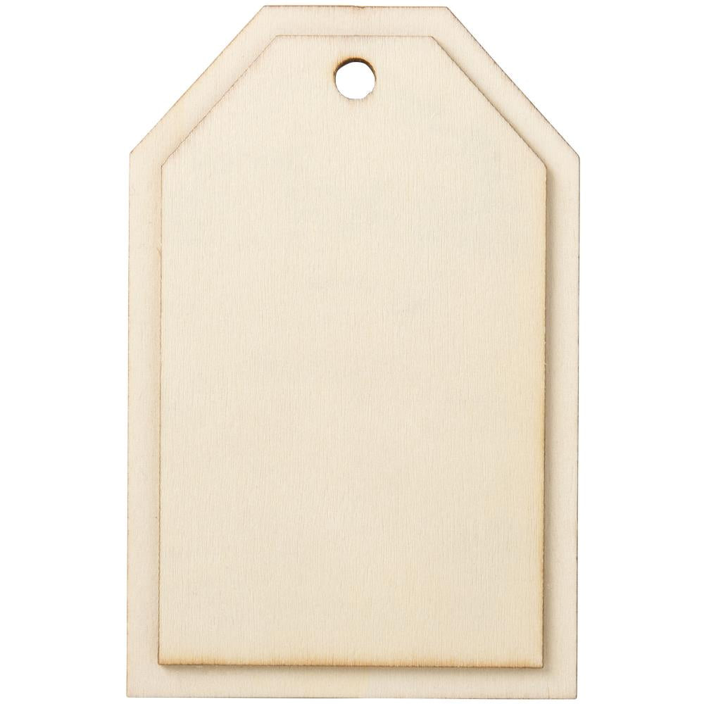 "Tag Wood Shape - 4.25""X2.75"""