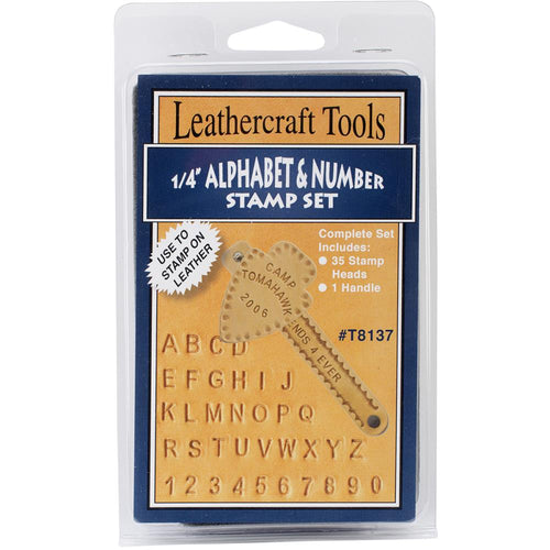 Alphabet & Number Stamp Set - .25""