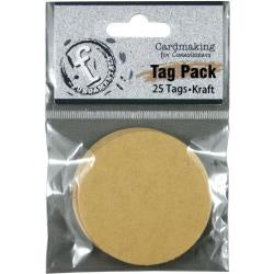 "Fundamentals Circle Tags 25/Pkg  - 2"" Kraft"