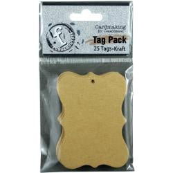 "Fundamentals Scallop Tags 25/Pkg 2.75""X2"" Kraft"
