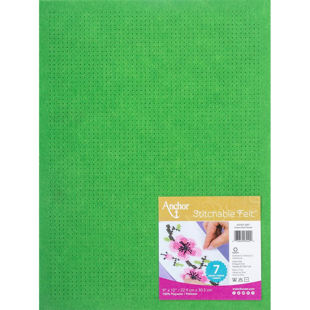 Red Heart Stitchable Felt - Green