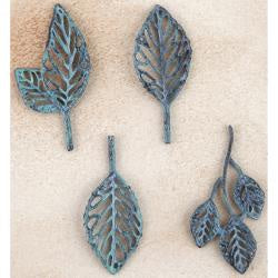 Prima Marketing Metal Trinkets Stoked Leaves 4/Pkg