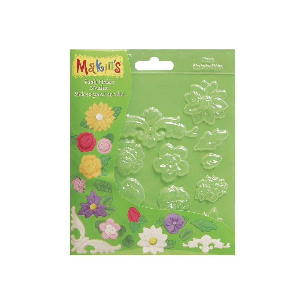 Makin's Clay Push Molds - Floral