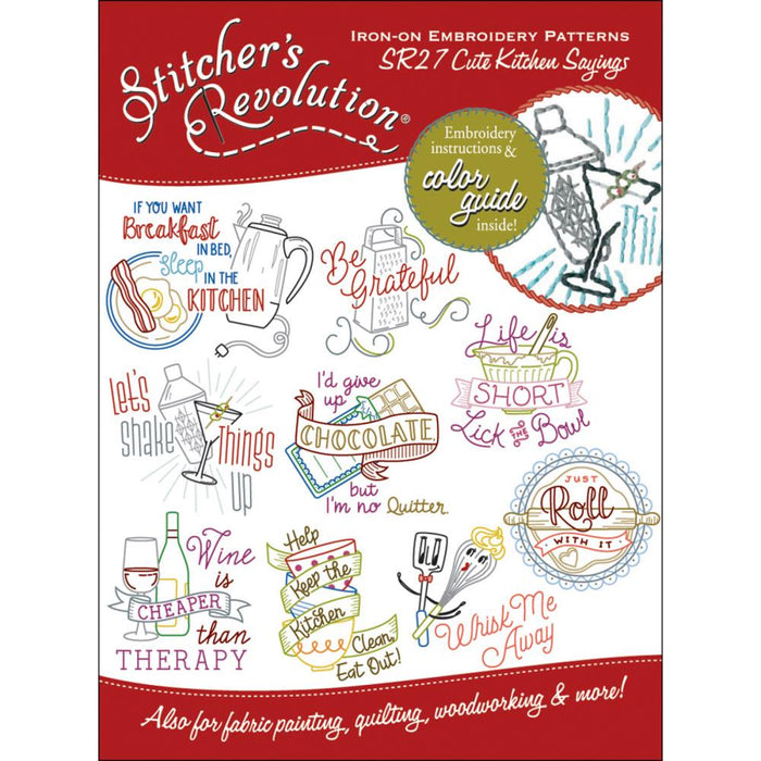 Stitcher's Revolution Iron-On Transfers - Cute Kitchen Sayings