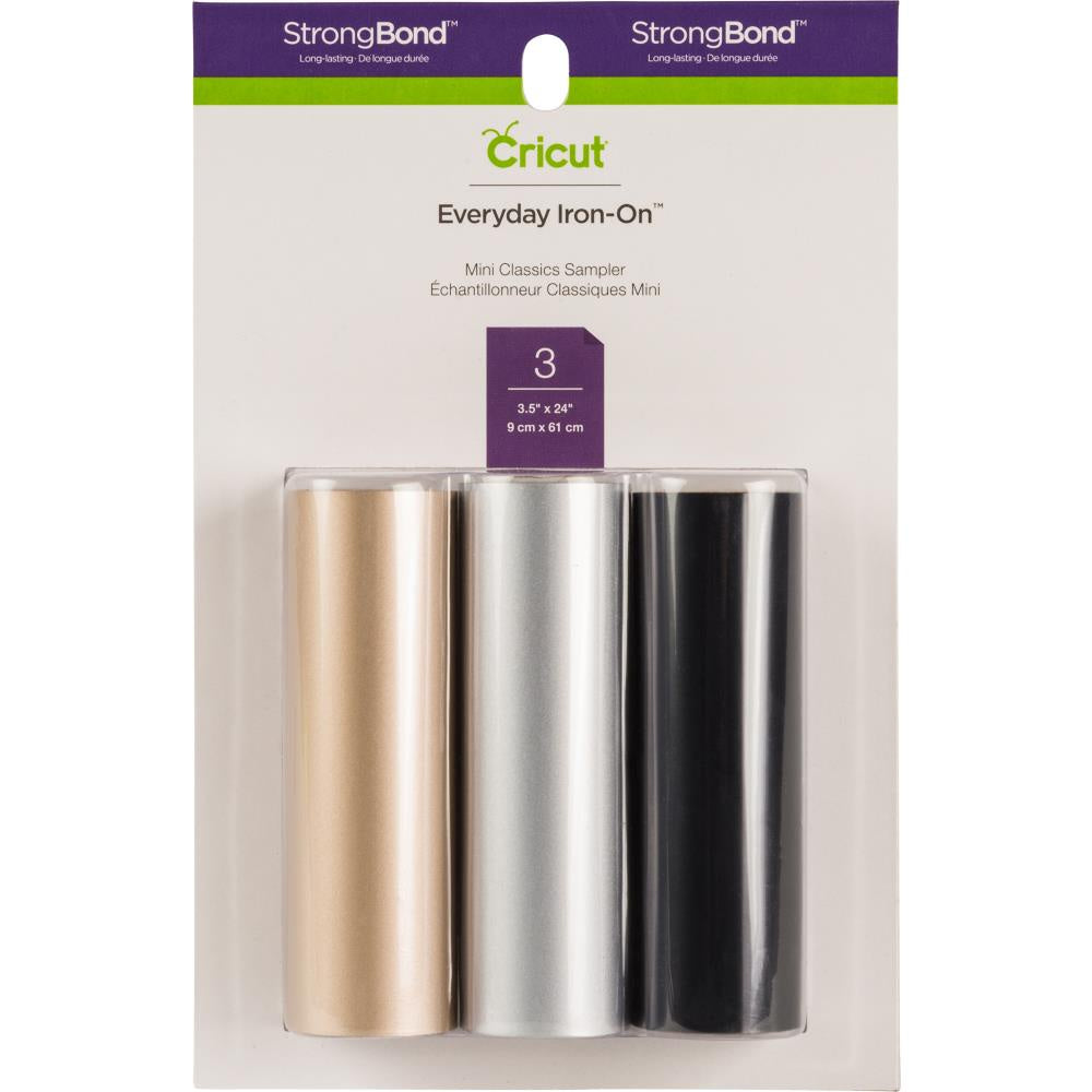 "Cricut Mini Everyday Iron-On Vinyl 3.7""X24"" 3/Pkg - Classic"