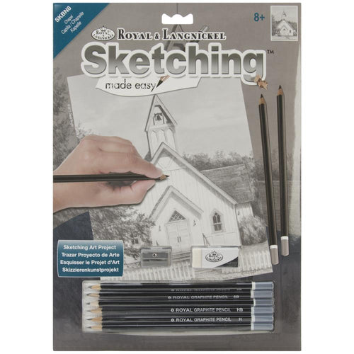 "Sketching Made Easy Kit 9""X12"" - Chapel"
