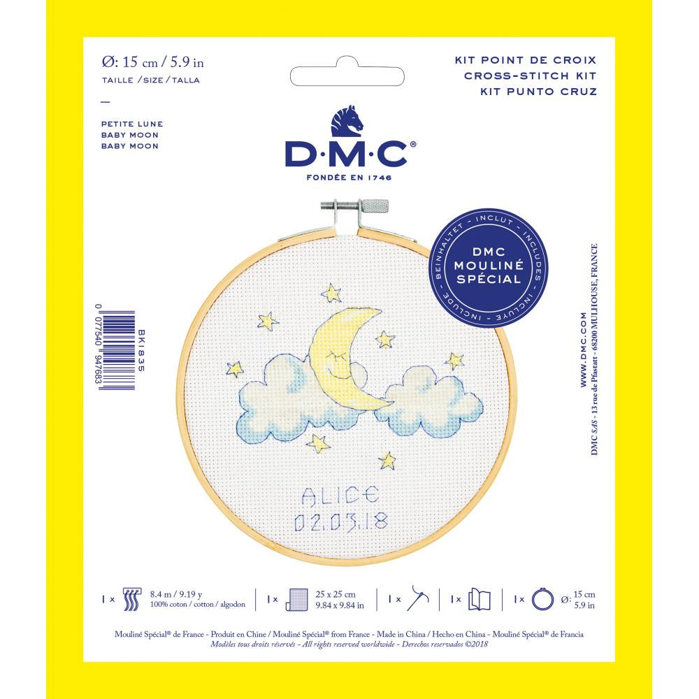 "DMC Stitch Kit 6"" Diameter - Baby Moon"